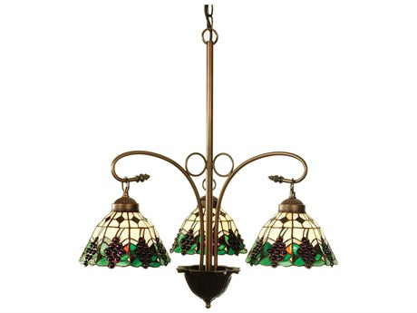 Meyda Tiffany Grape Three-Light 24 Wide Chandelier MY103183