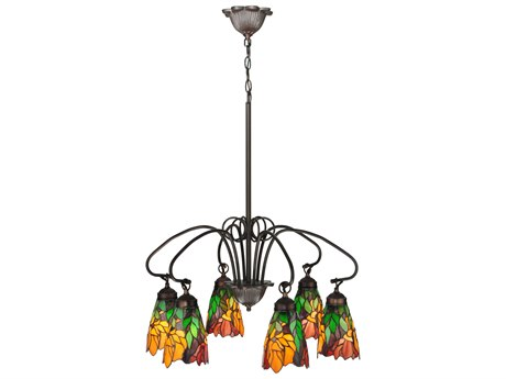 Meyda Tiffany Iris Six-Light 26 Wide Chandelier