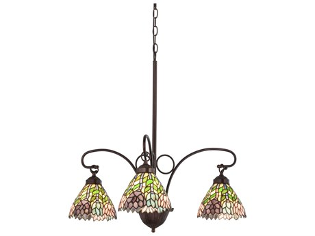 Meyda Tiffany Wisteria Three-Light 23 Wide Grand Chandelier MY16102