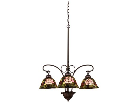 Meyda Tiffany Rosebush Three-Light 24 Wide Chandelier MY27418