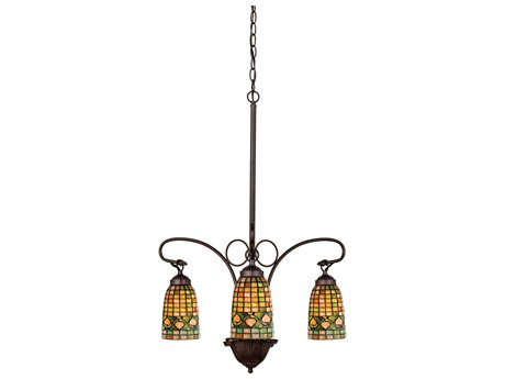 Meyda Tiffany Acorn Three-Light 20 Wide Grand Chandelier MY73983