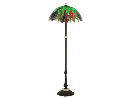 Meyda Tiffany Honey Locust Multi-Color Floor Lamp MY122380