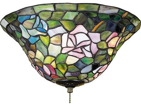 Meyda Tiffany Rosebush Three-Light Flush Mount Light MY71427