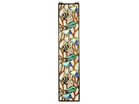 Meyda Tiffany Tropical Fish Stained Glass Window