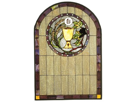 Meyda Tiffany Sacrament Stained Glass Window MY51129