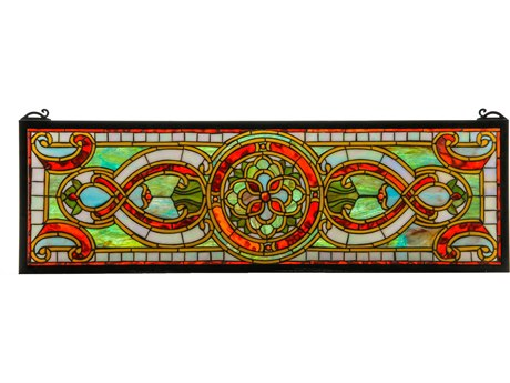 Meyda Tiffany Evelyn In Topaz Transom Stained Glass Window