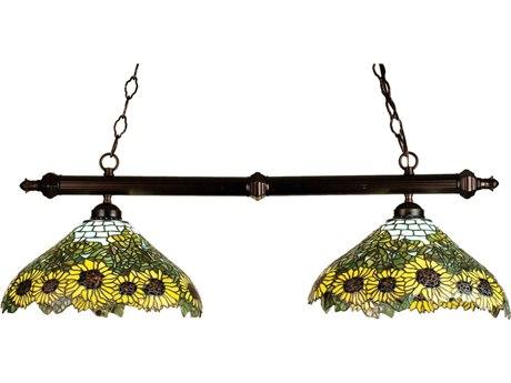 Meyda Tiffany Wild Sunflower Two-Light Island Light MY18845