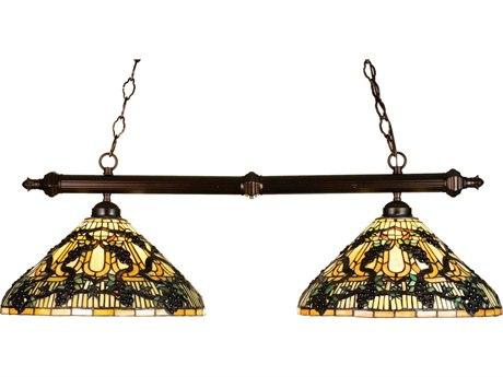 Meyda Tiffany Jeweled Grape Two-Light Island Light MY18847
