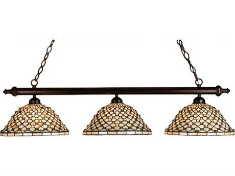 Meyda Tiffany Diamond & Jewel Three-Light Island Light MY18848