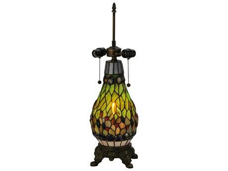 Meyda Tiffany Mosaic Three-Light Table Base