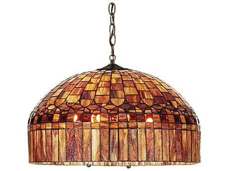 Meyda Tiffany Candice Three-Light Pendant Light