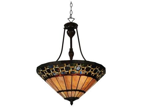 Meyda Tiffany Ilona Inverted Three-Light Pendant Light MY125115
