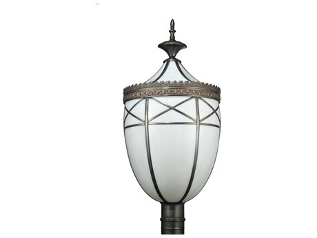 Meyda Tiffany Borough Hall Outdoor Post Mount Light