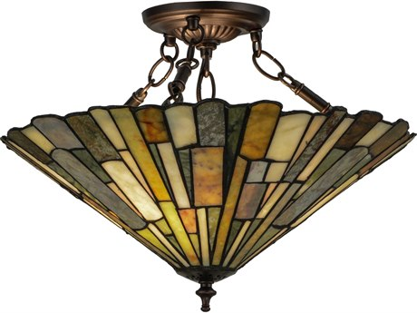 Meyda Tiffany Delta Jadestone Semi-Flush Mount Light MY155108