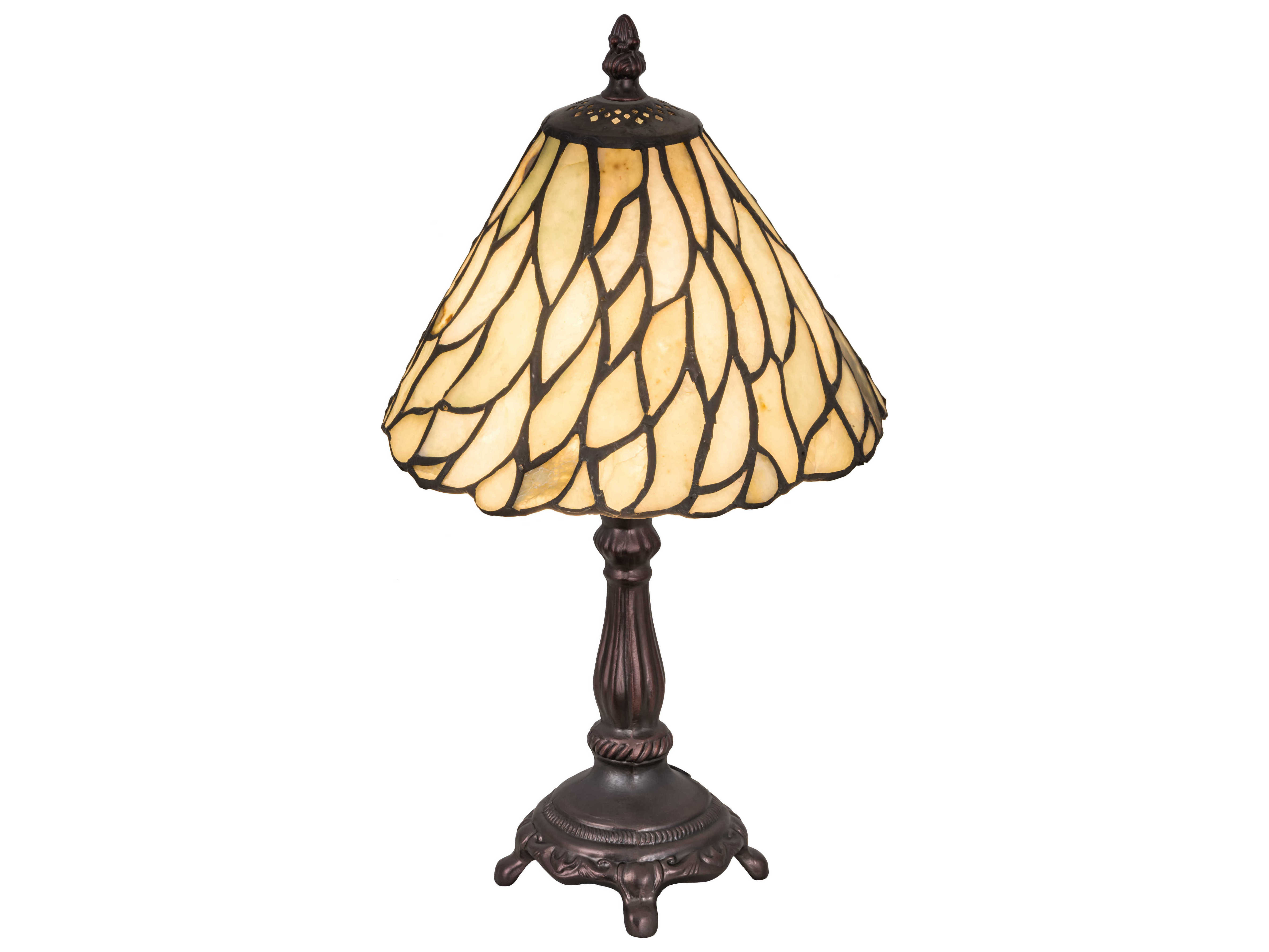 Meyda Tiffany Jadestone Willow Multi Color Mini Table Lamp
