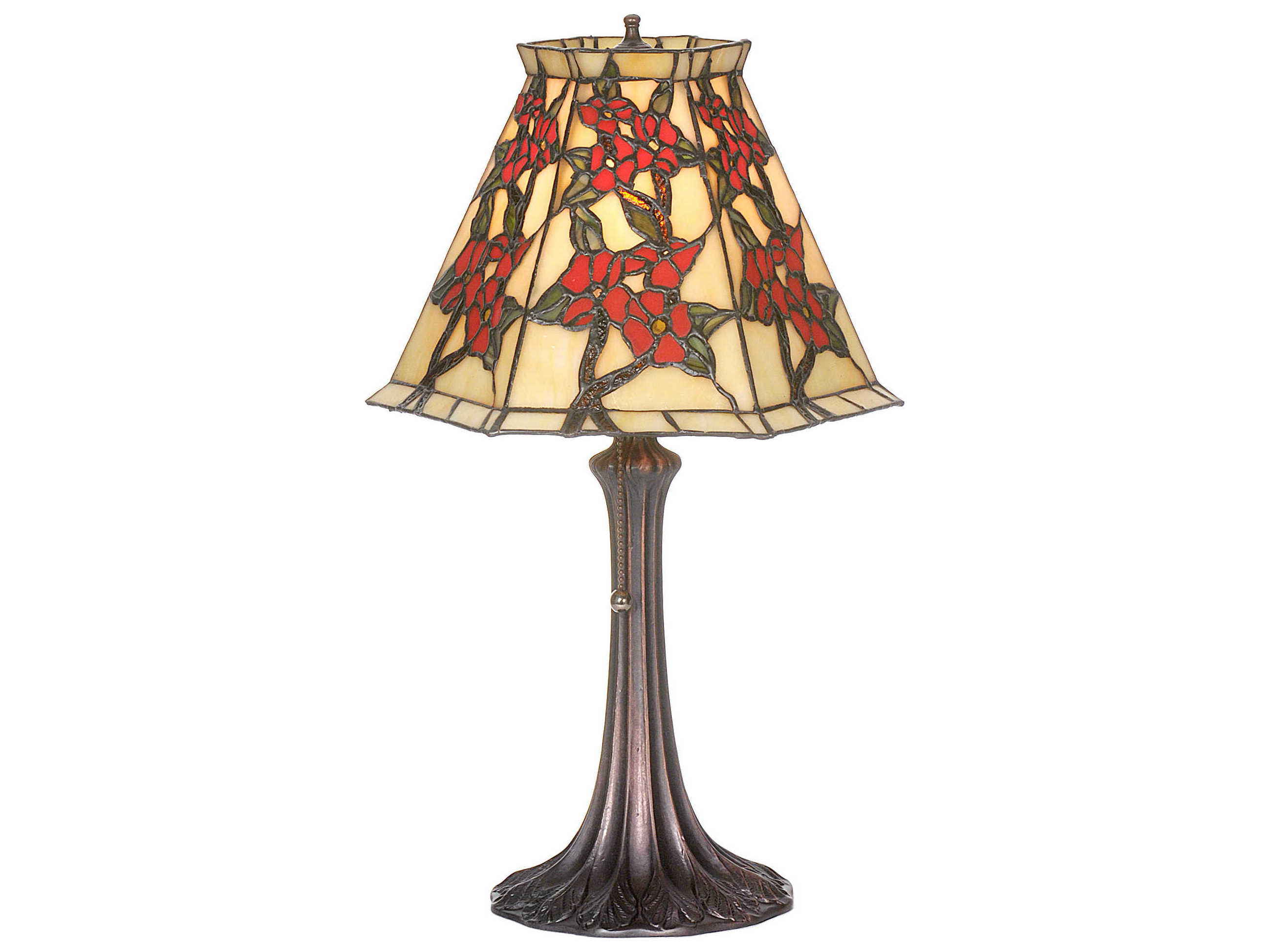 Meyda Tiffany Oriental Peony Multi Color Accent Table Lamp