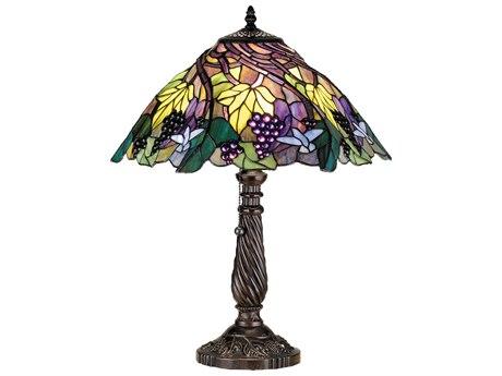Meyda Tiffany Spiral Grape Blue Table Lamp