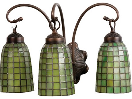 Meyda Tiffany Terra Verde Three-Light Vanity Light MY18640