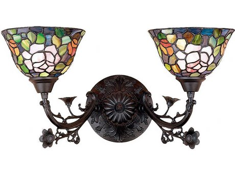 Meyda Tiffany Rosebush Two-Light Wall Sconce MY27392