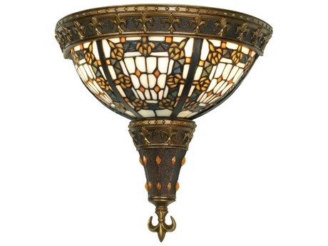Meyda Tiffany Fleur-De-Lis Two-Light Wall Sconce MY50243