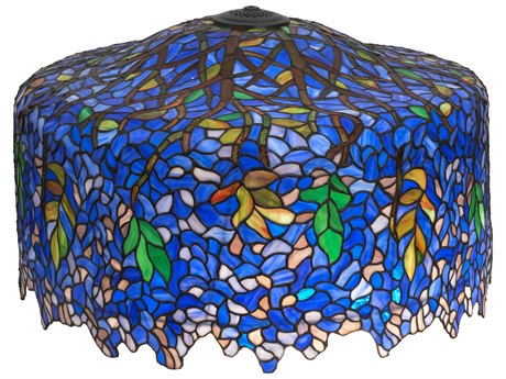 Meyda Lighting Tiffany Wisteria Blue 30'' Wide Shade