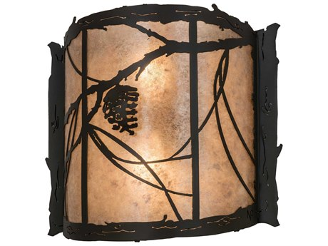 Meyda Glass Rustic Lodge Vanity Light MY98413