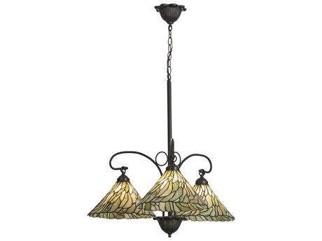 Meyda Tiffany Willo Jadestone Three-Light 30 Wide Chandelier MY153966