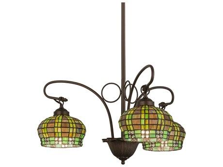 Meyda Tiffany Jeweled Basket Three-Light 23 Wide Chandelier MY27420