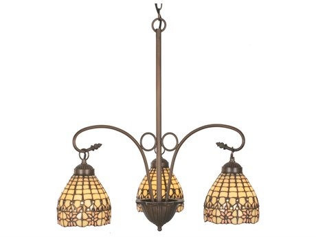 Meyda Tiffany Victorian Flourish Three-Light 21 Wide Grand Chandelier MY81866