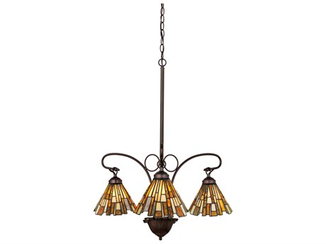 Meyda Tiffany Jadestone Delta Three-Light 24 Wide Grand Chandelier MY98058