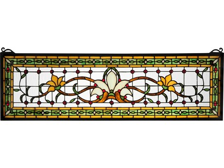Meyda Tiffany Fairytale Transom Stained Glass Window MY119444