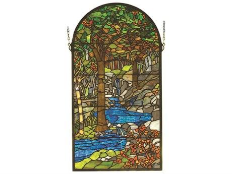 Meyda Tiffany Waterbrooks Stained Glass Window