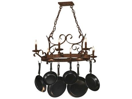 Meyda Tiffany Handforged Oval Six-Light Pot Rack MY149135