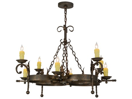 Meyda Tiffany Andorra Eight-Light 42 Wide Grand Chandelier MY119771