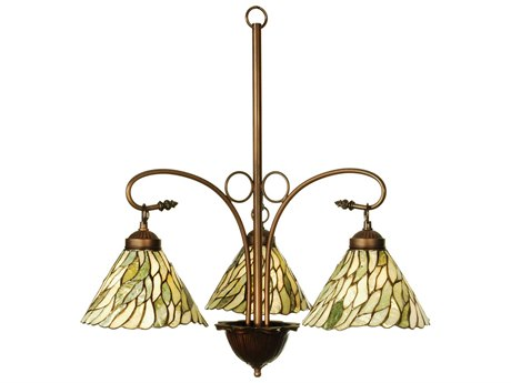 Meyda Tiffany Jadestone Willow Three-Light 24 Wide Mini-Chandelier MY103042