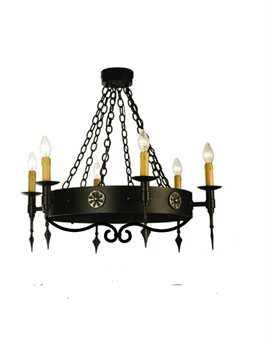 Meyda Tiffany Warwick Six-Light 24 Wide Mini-Chandelier MY111562