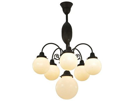 Meyda Tiffany Lafayette Six-Light 23 Wide Mini-Chandelier