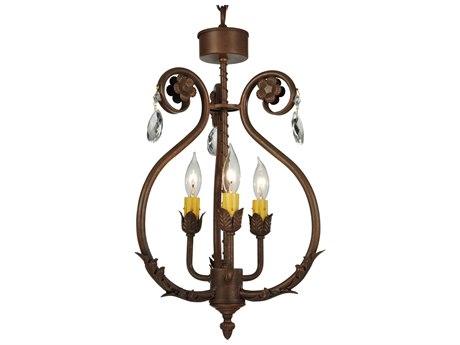 Meyda Tiffany Antonia Three-Light 12 Wide Mini Chandelier MY132457