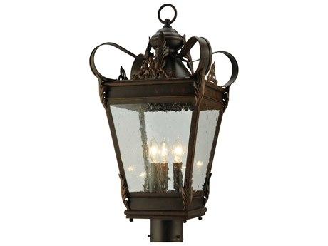 Meyda Tiffany Verona Three-Light Outdoor Post Mount Light MY129190