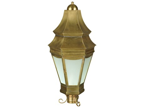 Meyda Tiffany Statesboro Clear Ripple Brass Outdoor Post Mount MY136812