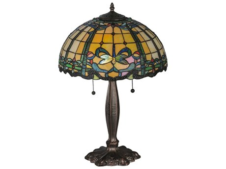 Meyda Tiffany Dragonfly Blue & Green Table Lamp MY138585