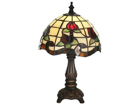 Meyda Tiffany Roseborder Multi-Color Mini Lamp MY19189