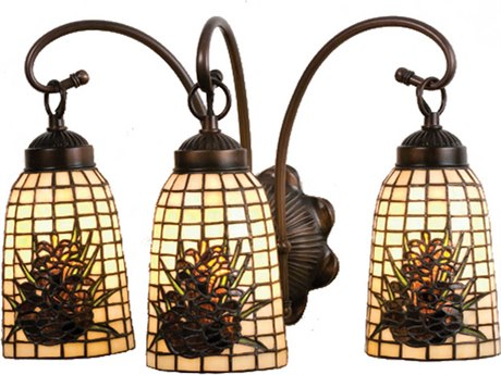 Meyda Tiffany Pine Barons Three-Light Vanity Light MY18785