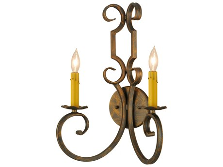 Meyda Tiffany Carlo Two-Light Wall Sconce MY117559