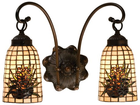 Meyda Tiffany Pine Barons Two-Light Wall Sconce MY18661