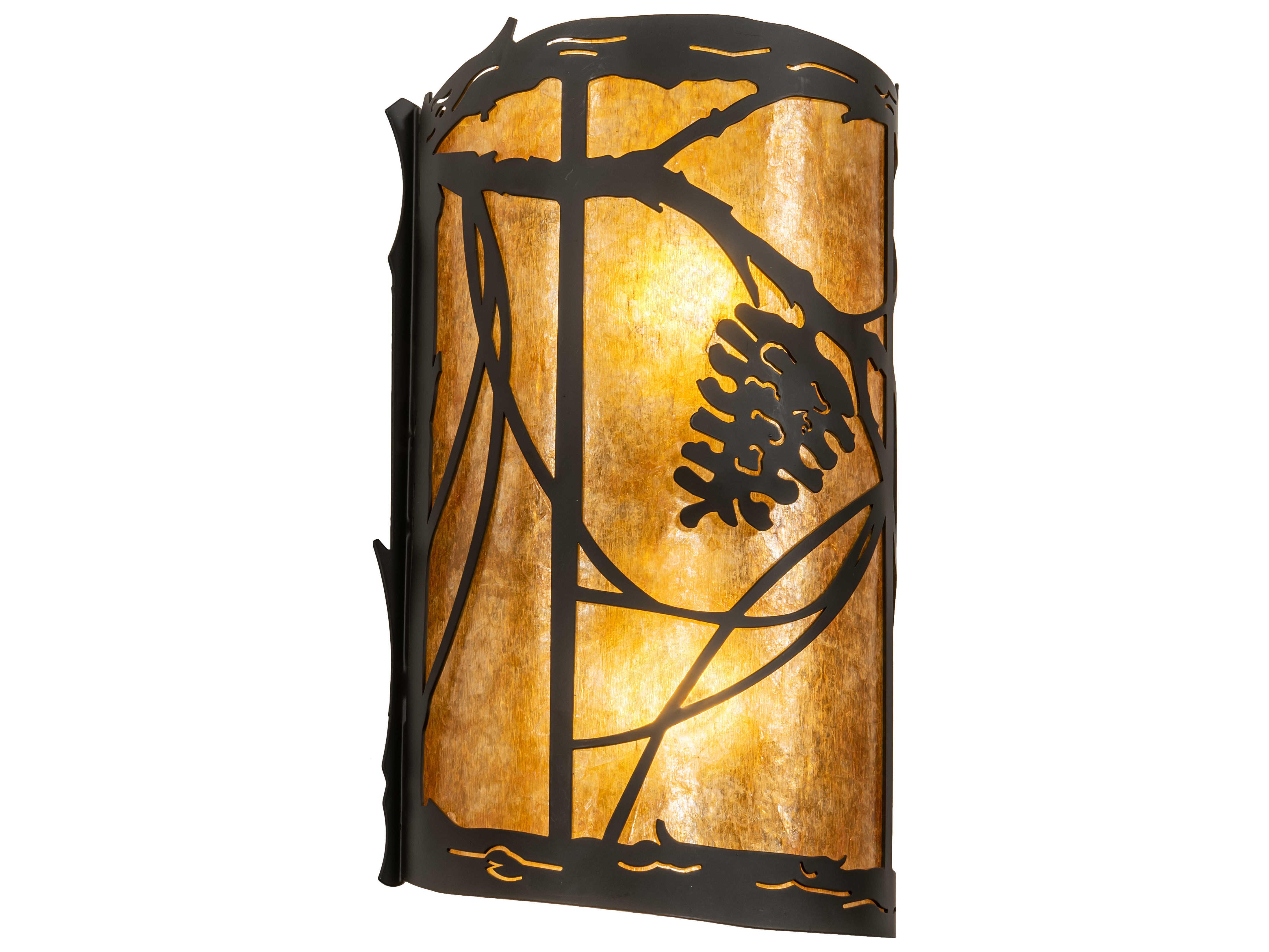 Meyda Whispering Pines Oil Rubbed Bronze 2 Light Rustic Lodge Vanity Light My230825