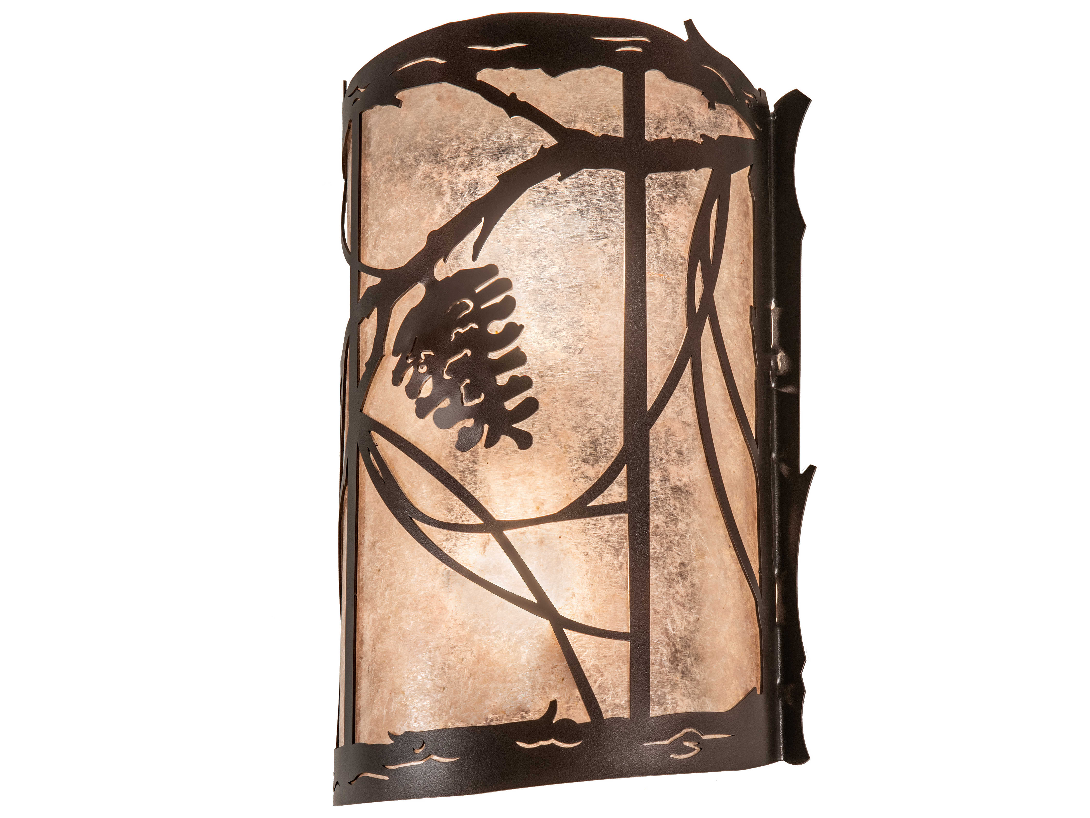 Meyda Whispering Pines Mahogany Bronze 2 Light Rustic Lodge Vanity Light My231469