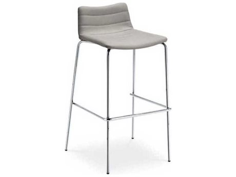 Midj Cover Ash Grey Hide with Chrome Bar Stool MIDMDCOVER757SF