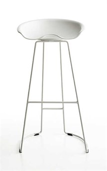 Midj Landi White Bar Stool MIDMDLANDI75