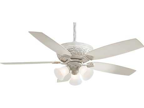Minka-Aire Classica Provencal Blanc Three-Light 54'' Wide Indoor Ceiling Fan MKAF759PBL